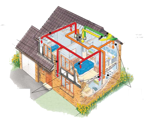 Home Heat Recovery Ventilation Diagram